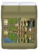 Treviso Canal And Reflections Duvet Cover