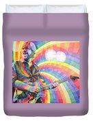 Trey Anastasio Rainbow Duvet Cover by Joshua Morton