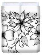 Tri-floral Sketch Duvet Cover