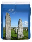Triangular Callanish Stone Duvet Cover