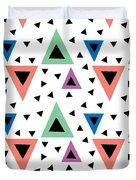 Triangular Dance Repeat Print Duvet Cover
