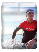 Triathlete And Two Time Iron Man Winner Duvet Cover