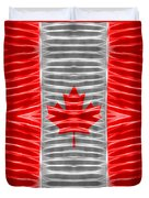 Triband Flags - Canada Duvet Cover