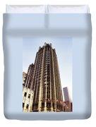 Tribune Tower Facade Duvet Cover