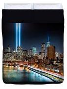 Tribute In Light Memorial Duvet Cover
