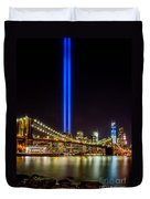 Tribute Lights From Brooklyn Duvet Cover