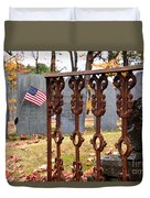 Tribute To A Soldier Duvet Cover