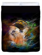 Tribute To Canine Veterans Duvet Cover by Kathy Tarochione