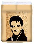 Tribute To Elvis Presley Duvet Cover