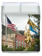 New Orleans Tribute To Joan Of Arc Duvet Cover