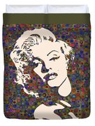 Tribute To Marilyn Monroe Duvet Cover