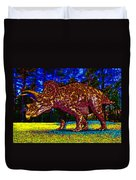 Triceratops Painting Duvet Cover