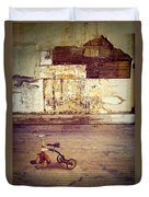 Tricycle In Abandoned Room Duvet Cover