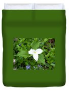 Trillium - White Beauty Duvet Cover