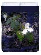 Trilliums Duvet Cover