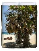Trincomalee Palms Duvet Cover