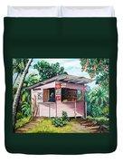 Trini Roti Shop Duvet Cover