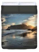 Trinidad Beach Reflections Duvet Cover