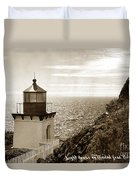 Trinidad Head Light Humboldt County California 1910 Duvet Cover