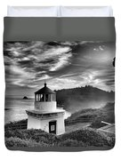 Trinidad Light In Black And White Duvet Cover by Adam Jewell