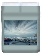 Trinidad State Beach In Infrared Duvet Cover