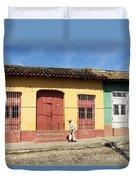 Trinidad Streets Cuba Duvet Cover