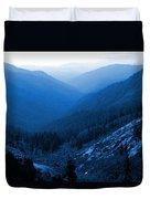Trinity #2 Enhanced In Blue Duvet Cover