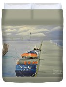 Trinity Long Line Fishing Trawler At San Remo  Duvet Cover