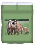 Trio Of Horses 2 Duvet Cover