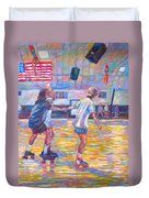 Trios At Dominion Skating Rink Duvet Cover