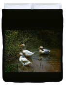 Triple Ducks Duvet Cover