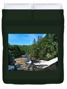Triple Falls North Carolina Duvet Cover