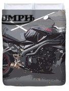 Triumph Motorcycle Duvet Cover