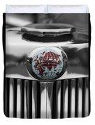 Triumph Roadster Emblem Selective Color Duvet Cover