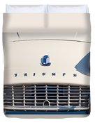 Triumph Tr3 Grille Emblem Duvet Cover