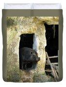 Troglodyte Pig Duvet Cover