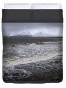 Trollaskagi Black Sand Beach Duvet Cover