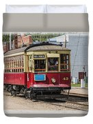 Trolley Car At The Fort Edmonton Park Duvet Cover