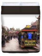 Trolley Car Main Street Disneyland 02 Duvet Cover