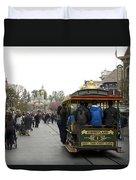 Trolley Car Main Street Disneyland 03 Duvet Cover