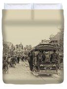 Trolley Car Main Street Disneyland Heirloom Duvet Cover