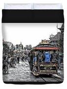 Trolley Car Main Street Disneyland Sc Duvet Cover