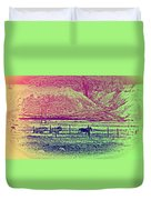 Now And Then You Dream Of The Old Fields Back Home  Duvet Cover