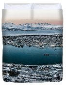 Tromso From The Mountains Duvet Cover