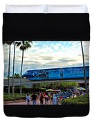 Tron Monorail At Walt Disney World Duvet Cover by Thomas Woolworth