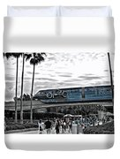 Tron Monorail Wdw In Sc Duvet Cover by Thomas Woolworth