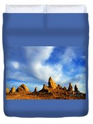 Trona Pinnacles California Duvet Cover