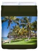 Tropical Beach I. Mauritius Duvet Cover