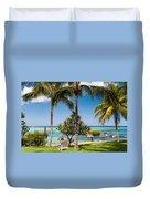 Tropical Beach. Mauritius Duvet Cover