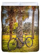 Tropical Bicycle Duvet Cover